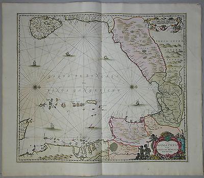 Sinus Gangeticus, Vulgo Golfo de Bengala - Janssonius 1657 - Indien, Bangladesch