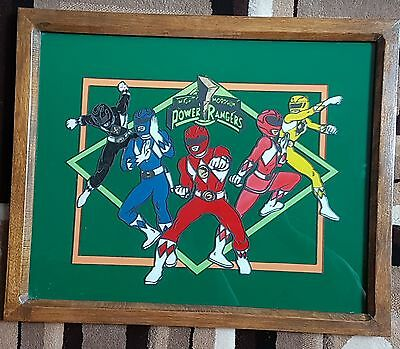 Hand Painted And Framed Power Rangers Artwork 4