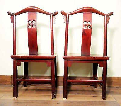 Antique Chinese High Back Chairs (5473) (Pair), Circa 1800-1849 3