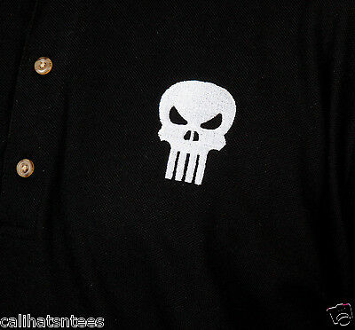a39caac8e ... The PUNISHER Marvel Comics Antihero Polo Rugby Shirt Comic Book Men's  SMALL New 5