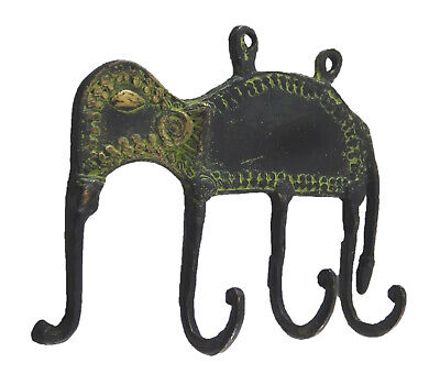 Elephant Design Antique Finish Brass Wall Hook Cloth Towel Cup Key Wall Hanger 3