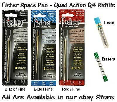 """1 Black /& 1 Red Two Fisher Space Pen /""""SU/"""" Universal Ink Refill Pack"""