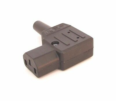 IEC Connector C13 10a Martin Kaiser 790 flat 90 degree for side mounting cables