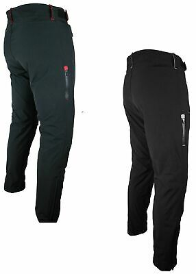XL HEYBERRY Soft Shell Motorradhose Textil Schwarz//Weiss Gr