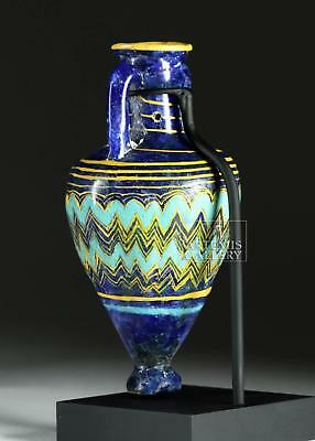 Gorgeous Greek Core-Form Glass Amphoriskos Lot 13