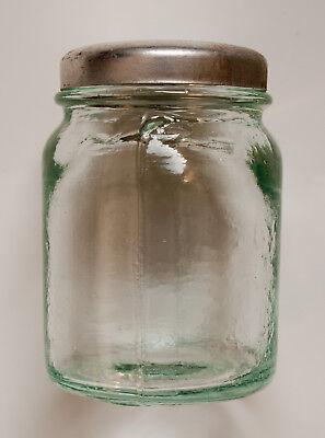 15 x kleine Gläser + Deckel aus Apotheke für Cremes und Salben um 1935