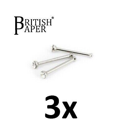 Uk Silver Nose Stud Straight I L Screw Shape Surgical Steel Pin Set Bar Piercing 10
