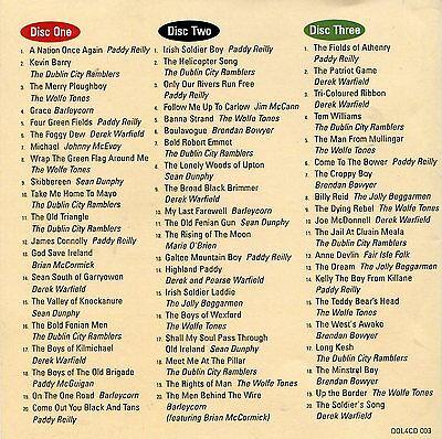 1 Of 3FREE Shipping 60 Greatest Ever Irish Rebel Songs 3CD Boxset Plus Free CD