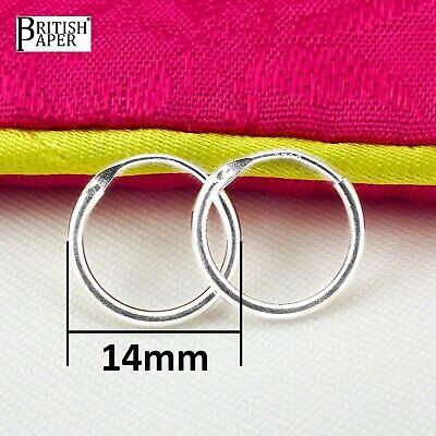 Girls 925 Sterling Silver 8mm -20mm Small Tiny Hinged Hoop Sleeper Earrings Pair 12