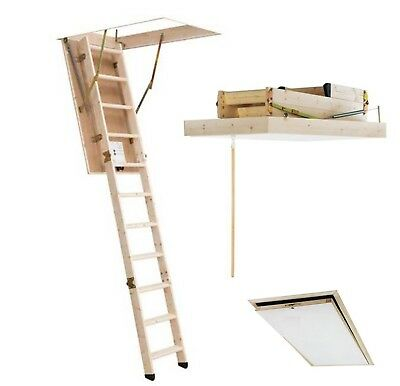 Oman Bodentreppe Scherentreppe THERMO 70 x 60 aus Holz