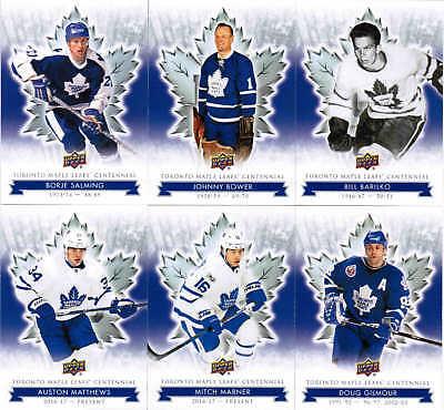2017 Ud Toronto Maple Leafs Centennial Hockey Complete Base & Sp Set (1-200) 2