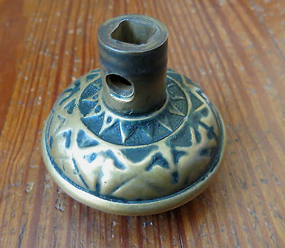 ANTIQUE BRASS VICTORIAN DOORKNOB - Geometric Design 3