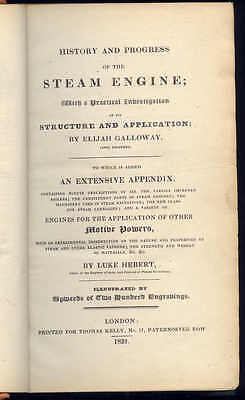 History & Progress of The Steam Engine by Elijah Galloway