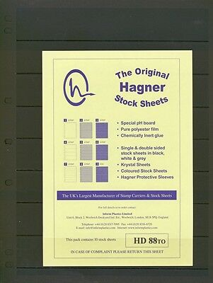 Hagner Double Sided Stamp Album Stock Pages from £5.59 per pack of 10.