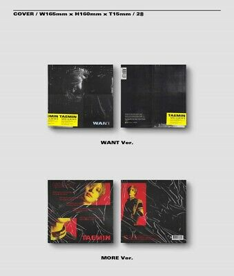 K-POP SHINEE TAEMIN 2nd Mini Album [WANT] MORE Ver. CD+Booklet+Photocard+Paper 5