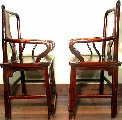 Antique Chinese Ming Arm Chairs (5882) (Pair), Circa 1800-1849 11