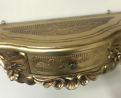 Wall Console with Drawer/Mirror Console/Wall Shelf Baroque Gold 50x27 Antique 8