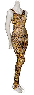 KDC011 Leopard Animal Print Sleeveless Dance Catsuit Unitard By Katz Dancewear 2