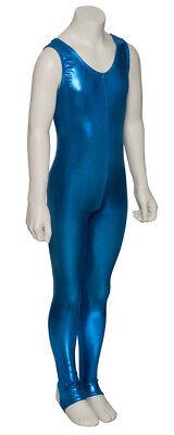 Kingfisher Shiny Metallic Dance Catsuit Unitard Katz Dancwear KDC011 SECONDS 3