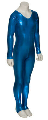 Kingfisher Shiny Metallic Dance Catsuit Unitard Katz Dancwear KDC012 SECONDS 3