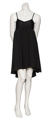 Ladies Girls Black Plain Lyrical Dress Contemporary Ballet Dance Costume By Katz 6