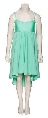 Donne Ragazze Verde Menta Lirico Abito Contemporaneo Balletto Danza Costume 6