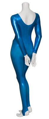 Kingfisher Shiny Metallic Dance Catsuit Unitard Katz Dancwear KDC012 SECONDS 2