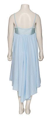 Donne Ragazze Blu Pallido Lirico Abito Contemporaneo Balletto Danza Costume 6