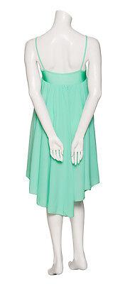 Donne Ragazze Verde Menta Lirico Abito Contemporaneo Balletto Danza Costume 5