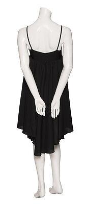 Ladies Girls Black Plain Lyrical Dress Contemporary Ballet Dance Costume By Katz 7
