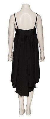 Ladies Girls Black Plain Lyrical Dress Contemporary Ballet Dance Costume By Katz 9