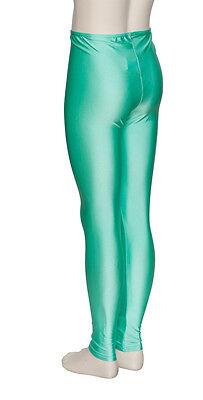 Donne Ragazze Verde Menta Licra Brillante Senza Piedi Da Ballo E Balletto 4