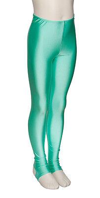 Donne Ragazze Verde Menta Lycra Tutina Brillante Da Ballo E Balletto Leggings 3