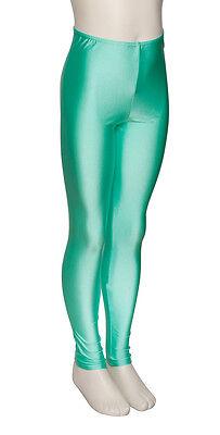 Donne Ragazze Verde Menta Licra Brillante Senza Piedi Da Ballo E Balletto 3