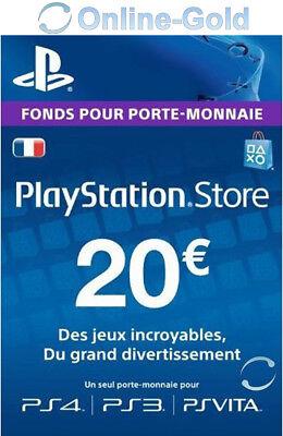 Compte français - Carte Playstation Network 20 EUR - €20 PSN Jeu PS3 PS4 PS Vita 2