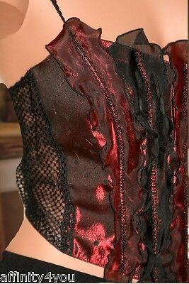 Millesia Nina Ricci Bustier Gothique Rouge/noir T3 Fr40 - Eur38 - Uk12 - Usam 4