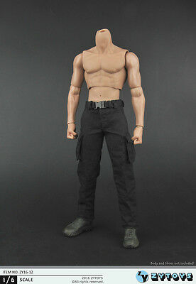U.S.A 1//6 Rambo First Blood Vest Pants Costume Set BLACK For Hot Toys SELLER