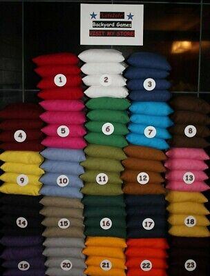 Set of 8 Cornhole Bags ACA Regulation Size Pick Your Colors Top Quality Handmade 7