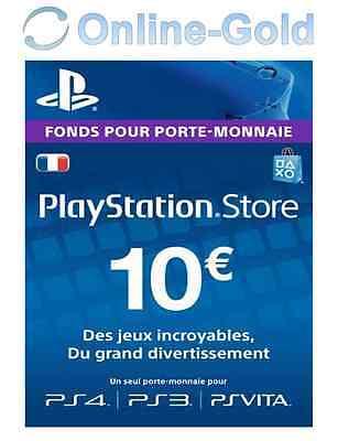 Compte français - Carte Playstation Network 10 EUR - €10 PSN Jeu PS3 PS4 PS Vita 2
