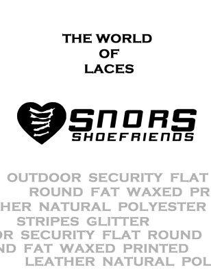 Schnürsenkel flach aus SATIN 75-130cm für Sneaker Turnschuhe 10-16mm breit SNORS