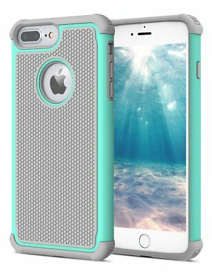 For iPhone 5 SE 6S 8 7 Plus Phone Case Hybrid Shockproof Armor Hard Cover 2