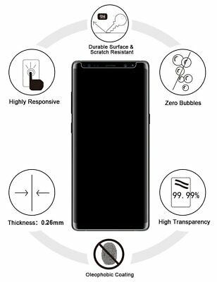 Case Friendly Tempered Glass Screen Protector For Samsung Galaxy NOTE 8 9 8