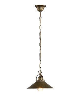 Lampada Lampadario in ottone brunito con campana a 3 coni lungo 1 metro BANCONE