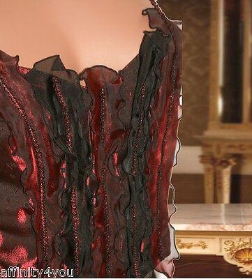 Millesia Nina Ricci Bustier Gothique Rouge/noir T3 Fr40 - Eur38 - Uk12 - Usam 2