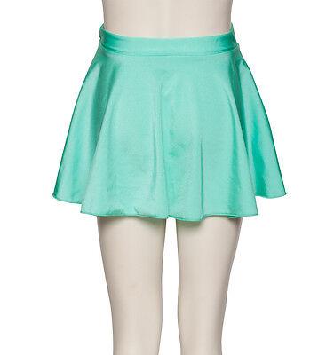 Verde Menta Lycra Circolare Da Ballo E Balletto Pull On Gonna Da Dancewear Katz 2