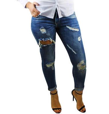 5e5ad204b0433e ... Jeans donna Pantaloni strappati slim skinny leggings 40 42 44 46 48 RDV  2