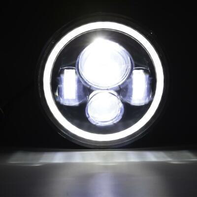 "Pair 7"" INCH 200W LED Headlights Halo Angle Eye For Jeep Wrangler CJ JK LJ 97-18 6"