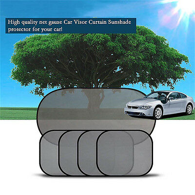 5Pcs Side Rear Window Screen Mesh Sunshade Sun Shade For Car UV Protection ON 5