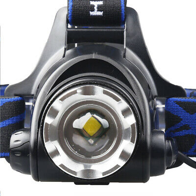 450000Lumen T6 LED Zoomable Headlamp USB Rechargeable 18650 Headlight Head Light 6