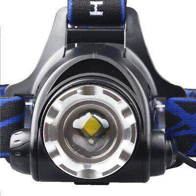 900000Lumen T6 LED Zoomable Headlamp USB Rechargeable 18650 Headlight Head Light 6